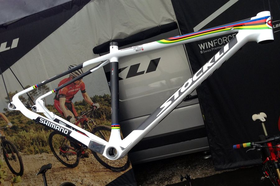 XC mountain-bike World-Cup Nove-Mesto Jolanda-Neff custom Stoeckli Beryll-RSC U23-world-champion-rainbow-frame